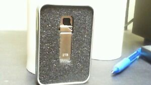 STAINLESS STEEL 2TB USB STICK WITH CASE
