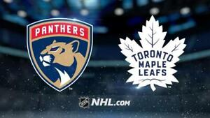 Toronto Maple leafs vs Panthers 25th March Lower Row 5 Sect 120