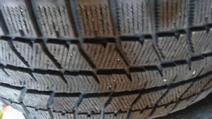 2Gently Used Winter tires Bridgestone245/55R17 70%left 120$both