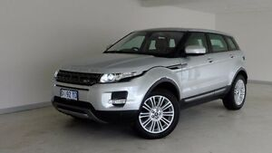 2013 Land Rover Range Rover Evoque L538 MY13 TD4 CommandShift Pure Silver 6 Speed Sports Automatic Hobart CBD Hobart City Preview