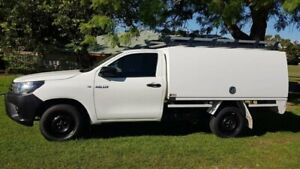2015 Toyota Hilux TGN121R Workmate 4x2 White 5 Speed Manual Cab Chassis Welshpool Canning Area Preview