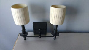 2 Light Wall Sconce with shades ( 1 available )