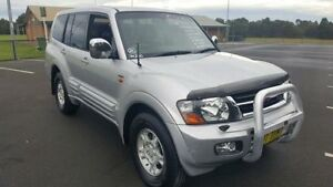 2002 Mitsubishi Pajero NM Exceed LWB (4x4) Silver 5 Speed Auto Sports Mode Wagon Revesby Bankstown Area Preview