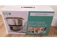 BRAND NEW BEAUTYPRO Hot Towel Steamer (Portable) KIT in Box,PLUS EXTRA NEW FREE STEAM TOWELS INCLUDE