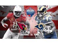 ** 2 x Arizona Cardinals @ Los Angeles Rams Twickenham NFL London **