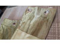 John Lewis Green Faux Silk Curtains 136x136cm Excellent Condition £8