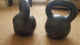 X2 cast iron kettlebells