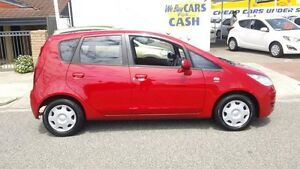 2005 Mitsubishi Colt RG Red 1 Speed Constant Variable Hatchback Victoria Park Victoria Park Area Preview