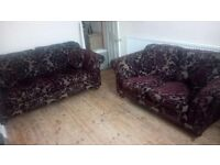 Two sofas one 3 seater and a two seater lovely suite cost 1300.