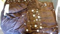 Single Brown Embroided Comforter
