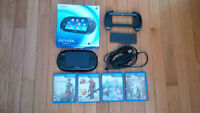 PS Vita with 5 games plus extras