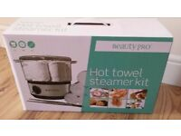 BRAND NEW BEAUTYPRO Hot Towel Steamer (Portable) KIT in Box £60