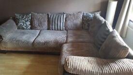 large brown upholstered corner sofa for sale