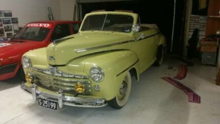 1947 Ford Super Deluxe Yellow Manual Convertible Deagon Brisbane North East Preview