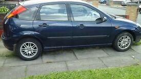 Ford Focus Zetec 2002 plate. 1.6 petrol. Blue . Roadworthy but needs CV joint.