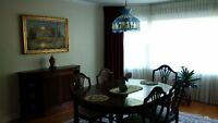 Solid Wood Dinning Table with 6 Chairs
