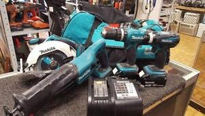 WOW BEAU KIT 4 OUTIL MAKITA 18V LITHIUM ION 299.95$