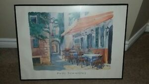 Beautiful Picture With Frame Cafe Provence By Paul Simmons