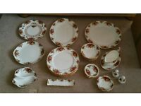 royal albert country rose china as new condition