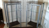 3 UNIT SHELVE WITh GLASSPLATES PICK UP TODAY $70