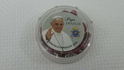 Rote Farbe Rose Parfümiert Rosenkranz Gesegneter von Pope Francis mit Box 2015