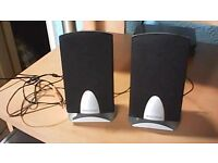 A PAIR OF E-MACHINES SP20N COMPUTER SPEAKERS