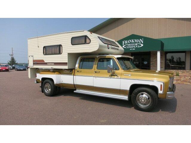 1975 Chevy 3500 Silverado Dually Crew Cab W 1983 Coachman