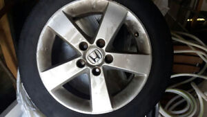 """civic tires 16 """" and oem alloy rims"""