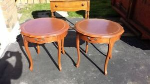 end tables - pair