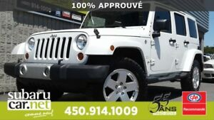 2011 Jeep Wrangler Unlimited Sahara NAV, BLUETOOTH, REG VITESSE