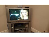 Panasonic TV, unit and 6 speakers for sale