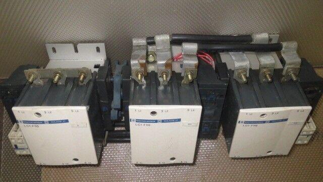 SQUARE D TELEMECANIQUE WYE DELTA START/REVERSE CONTACTORS 3 X LC1-F115