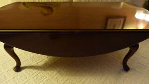Luxury Cherry Dropleaf Oval Coffee Table