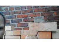 yellow house bricks