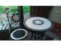 Garden table n one chair