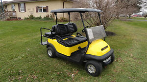 BLACK ON CANARY YELLOW!! 2011 CLUB CAR PRECEDENT GOLF CART