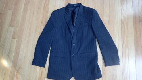 Calvin Klein Boy Suit Jacket Blazer Size 18 regular Black Pin Stripes Preppy !!!