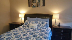 Bedroom set with cushioned back! Just like new!!!!