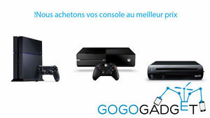 Wanted: Nous achetons vos consoles Xbox, Playstation, Nintendo