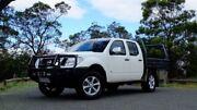 2011 Nissan Navara D40 S5 MY12 ST-X White 7 Speed Sports Automatic Utility Hobart CBD Hobart City Preview