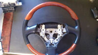 02-10 LEXUS SC430 Steering Wheel Black Leather & Woodgrani