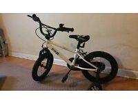 4-5 yrs bike + helmet+ lock n pump