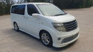 2004 Nissan Elgrand E51 Rider White 5 Speed Automatic Wagon