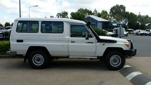 2013 Toyota Landcruiser VDJ78R MY13 GXL Troopcarrier White 5 Speed Manual Wagon Acacia Ridge Brisbane South West Preview