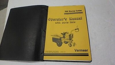Vermeer 203 Stump Cutter Operator Parts Manual Ci15