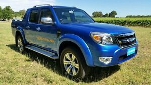 2011 Ford Ranger PK Wildtrak Crew Cab Blue 5 Speed Automatic Utility Tanunda Barossa Area Preview