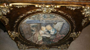 Marble Vintage Statue & Victorian Wall Art