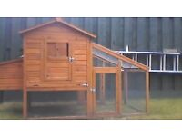 Chicken Coop: can house 3-5 chickens. Almost new.