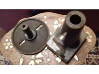 Vintage metal potters wheel or engineers