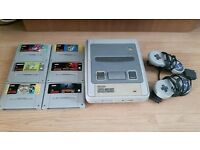 Super Nintendo (SNES) Console, all necessary Cables, 2 Controllers & 6 Games - £100 (O.N.O.)